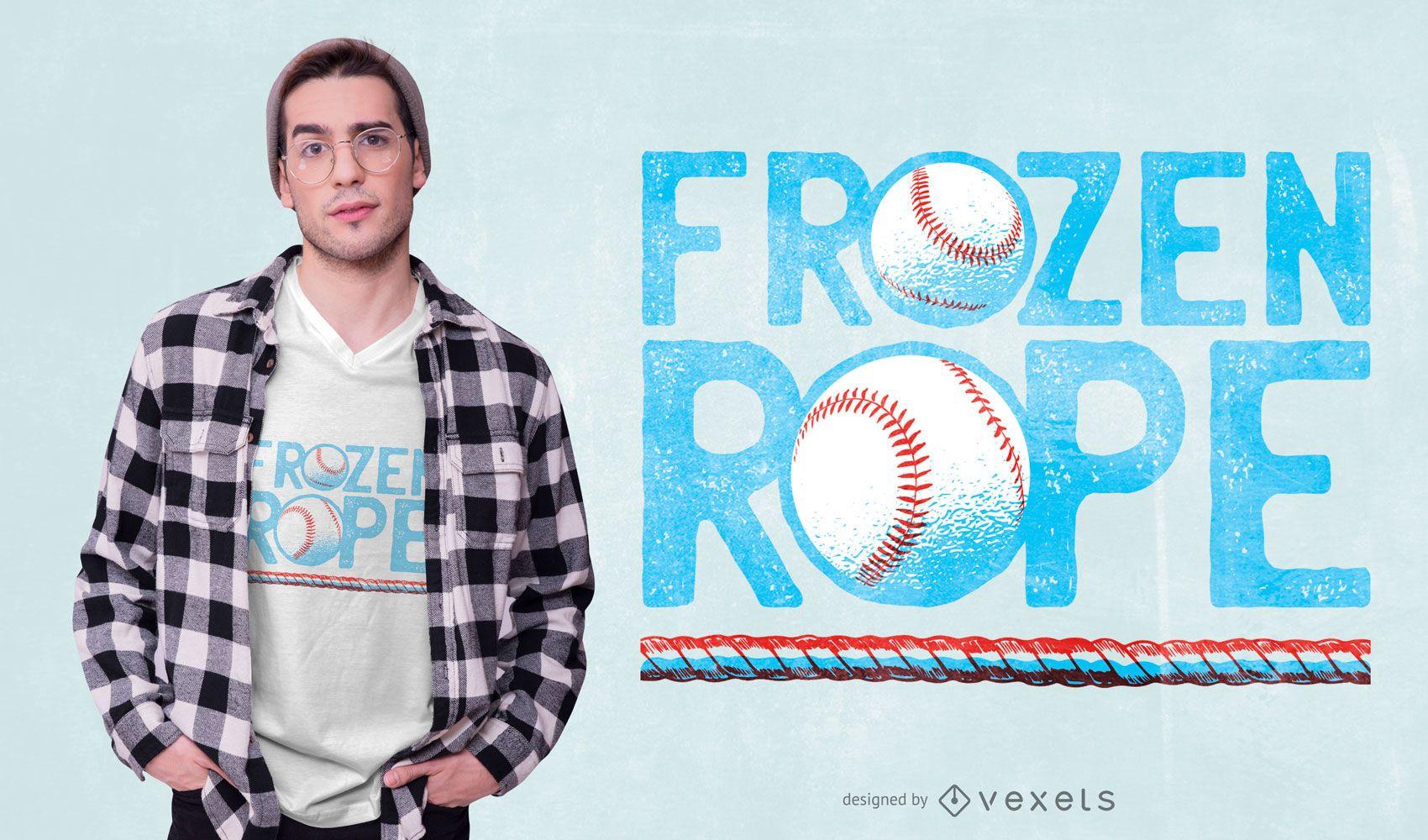 Diseño de camiseta de béisbol Frozen Rope
