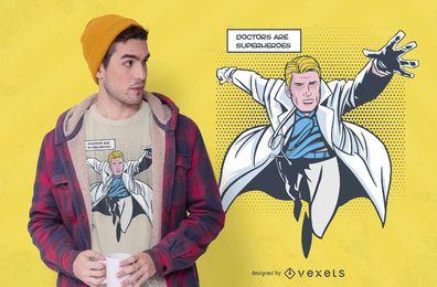 Diseño de camiseta de Doctor Supehero