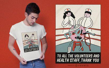 Design de camiseta com citações da Terra ferida