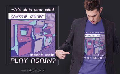 Vaporwave Arcade Quote T-shirt Design