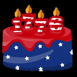 Bolo americano de 1776