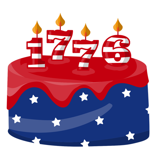 1776 american cake Transparent PNG