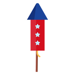 3 stars firework rocket element