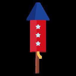 Elemento cohete de fuegos artificiales de 3 estrellas
