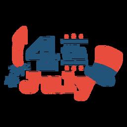 4 de julho doodle letras