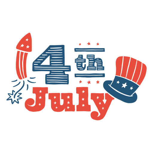 4th of july doodle lettering