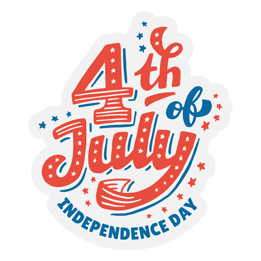 4th of july lettering sticker