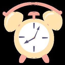 Icono plano reloj despertador