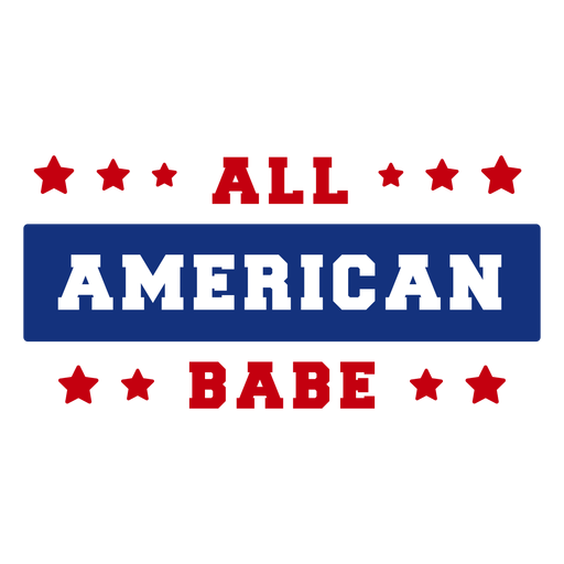 All american babe lettering Transparent PNG