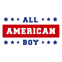 All american boy lettering