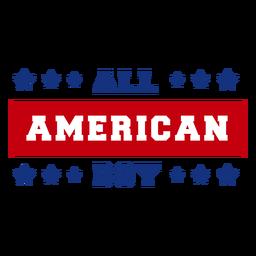 Todas as letras de menino americano