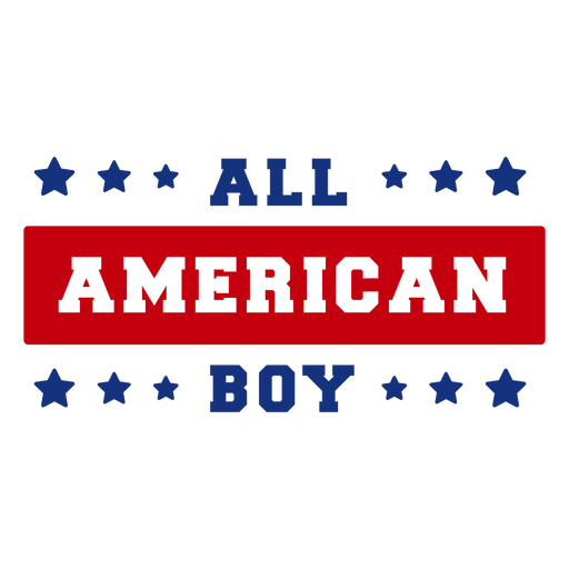 All american boy lettering Transparent PNG