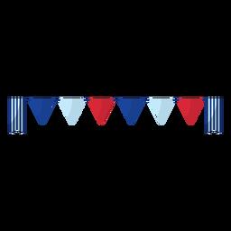 Elemento de banner de banderín de colores americanos