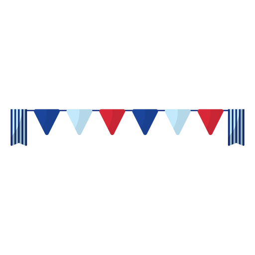 American colors pennant banner element