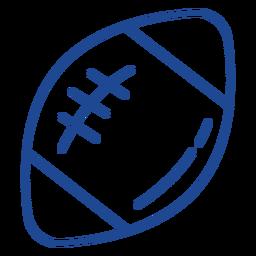 Golpe de bola de futebol americano americano