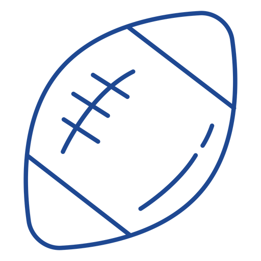 American football ball stroke american Transparent PNG