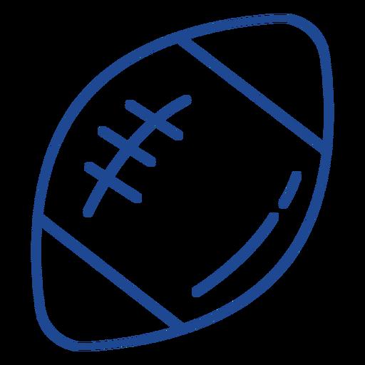 American football ball stroke american
