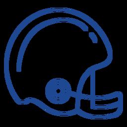 American football helmet stroke