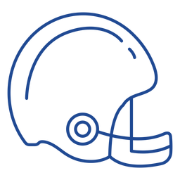 Curso de capacete de futebol americano