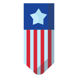 American hanging banner element