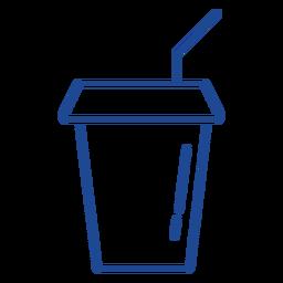 American soft drink cup stroke