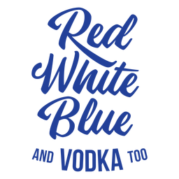 American vodka lettering