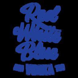 Letras de vodka americana