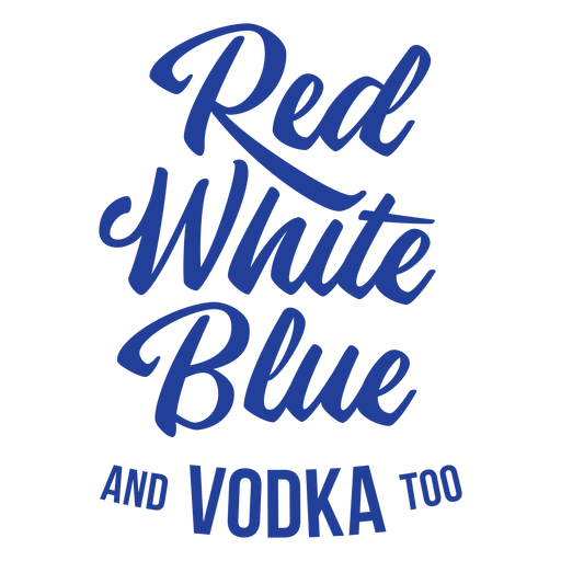 American vodka lettering Transparent PNG