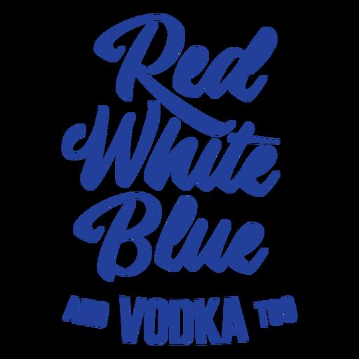 Letras de vodka americana Transparent PNG