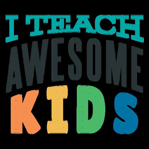 Awesome kids lettering design Transparent PNG