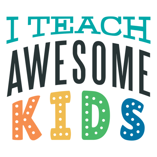 Awesome kids lettering design
