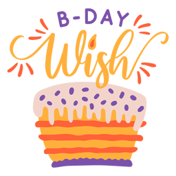 B day wish lettering