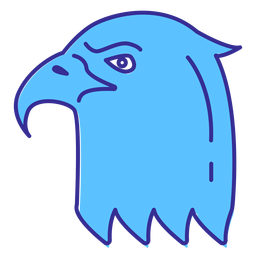 Elemento de trazo de cabeza de águila calva