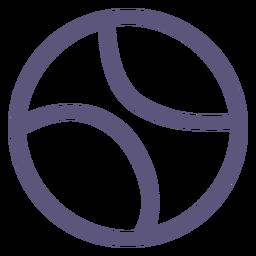 Icono de trazo de pelota de béisbol béisbol