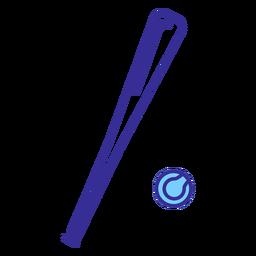 Baseball bat and ball element