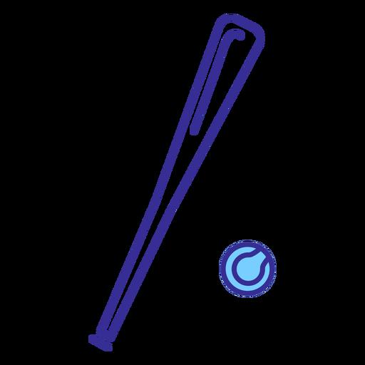 Elemento de pelota y bate de béisbol