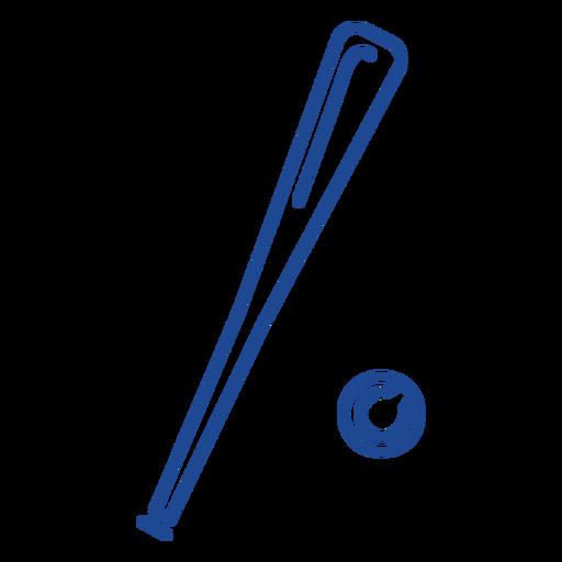 Download Baseball bat and ball stroke - Transparent PNG & SVG ...