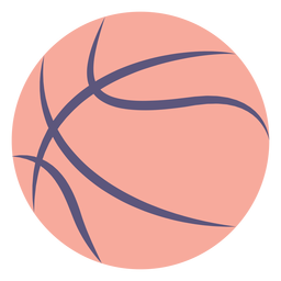 Ícone plana de bola de basquete