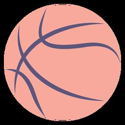 Icono plano de pelota de baloncesto