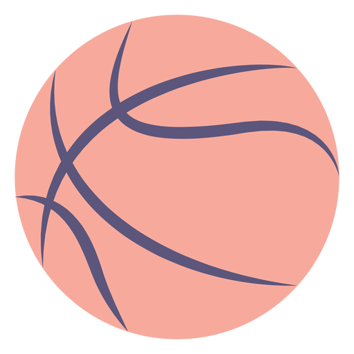 Basketball ball flat icon Transparent PNG