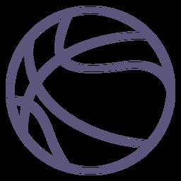 Icono de trazo de pelota de baloncesto baloncesto