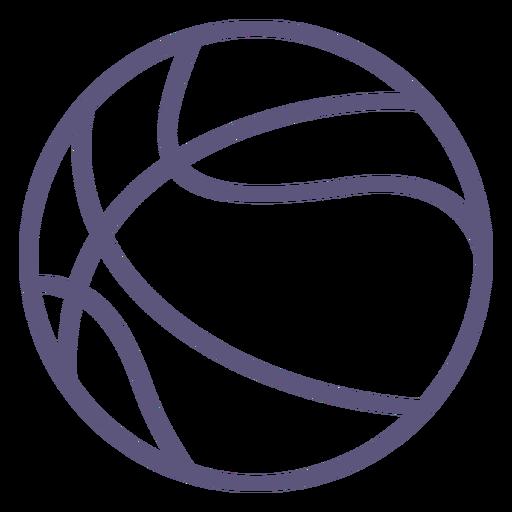 Basketball ball stroke icon basketball Transparent PNG