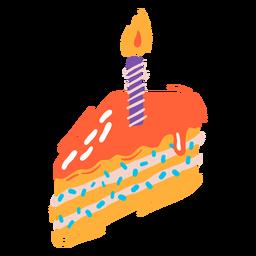 Rebanada de pastel de cumpleaños