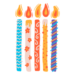 Birthday candles set