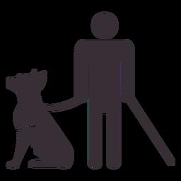 Figura de homem cego