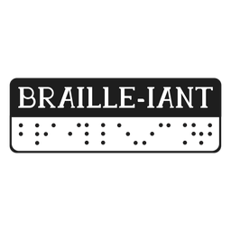 Braille iant braille lettering