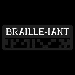 Letras braille braille gigante