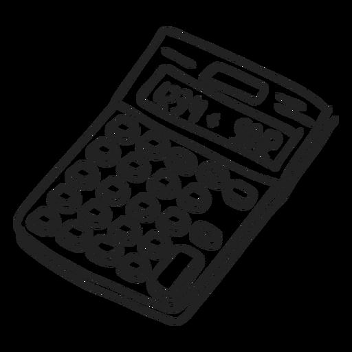 Calculator doodle Transparent PNG
