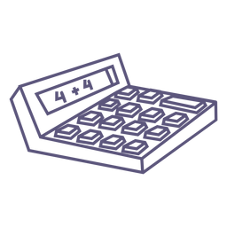 Calculadora de icono de trazo de calculadora