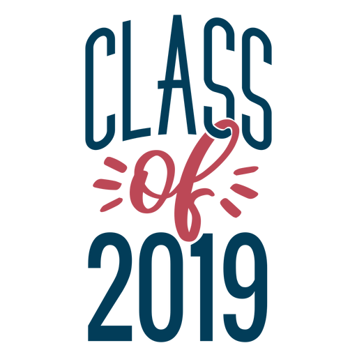 Class of 2019 lettering design